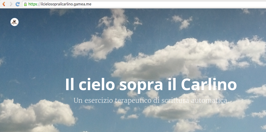 il cielo sopra il carlino in https!